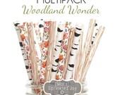 WOODLAND WONDER Multipack, Wood grain, birch tree, floral, wildflower, flowers, wedding, baby shower, party decor, rustic wedding