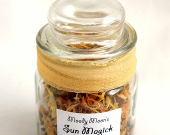 Sun Magick Loose Incense Wiccan Casting Blend for Work with Solar Energy & the Sun God