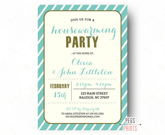 Housewarming Invites  Housewarming Invitation Printable