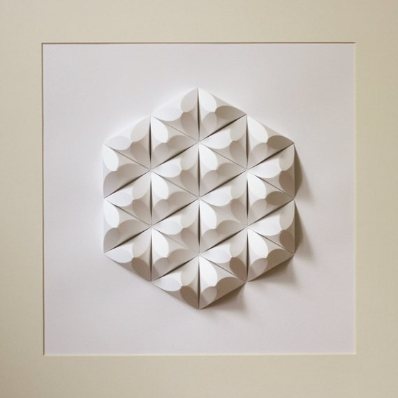 paper crystal mosaic relief wall art geometric by