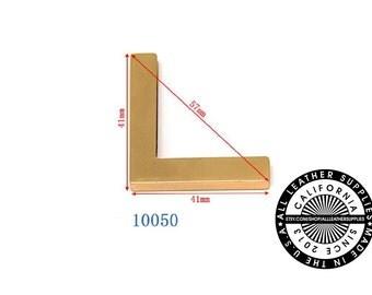 Gold Metal Bag Corner, 41 mm x 41 mm x 57 mm End Corners, Bag Corners, (10050)