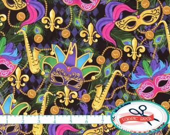 "Shop ""mardi gras fabric"" in Craft Supplies & Tools"
