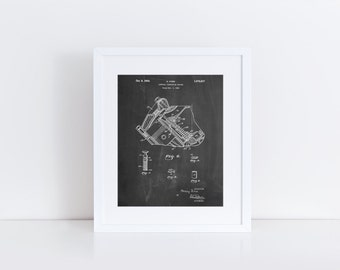 V-8 Combustion Engine 1934 Patent Poster, Henry Ford, Car Part Art, Mechanic Gift, Car Enthusiast, PP0172