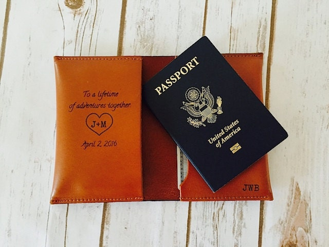 Perfect Wedding Gift For Husband : The Perfect Wedding Gift Passport Cover Holder Husband Gift