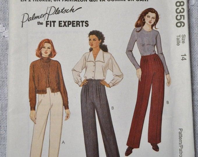 McCalls Pattern 8356 Misses 2 Hour Pants Sewing Supplies PanchosPorch