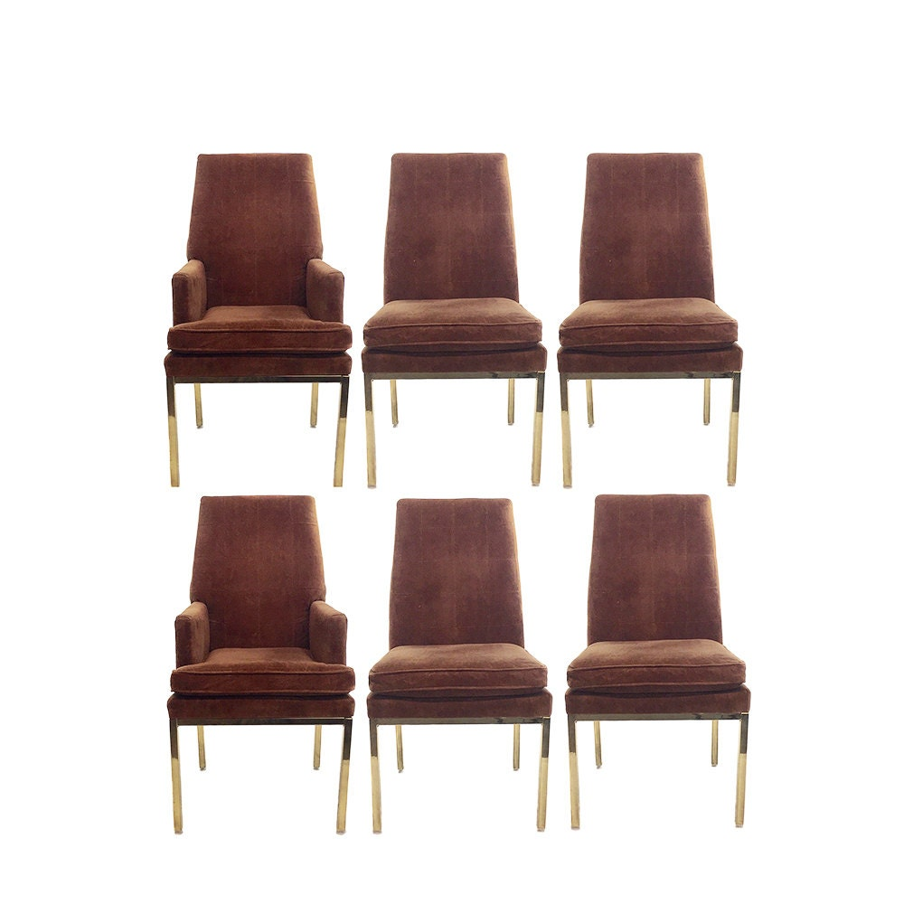 Gold Legged Dining Chairs Set of 6
