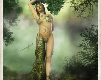"GREETING CARDS, 5x7 - Tree Goddess, Mother's Day, Fine Art Card, Blank Card, Fantasy Art Card - ""Mother Dryad"" by Summer Rae"