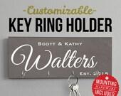 Custom Design Welcome Home, Wall mount Key Hanger, Key Rack, Holder, Housewarming Gift, Wedding Gift. Key Holders, Personalized Gift, Home