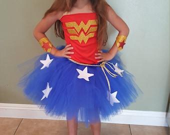 Wonder woman inspired tutu dress