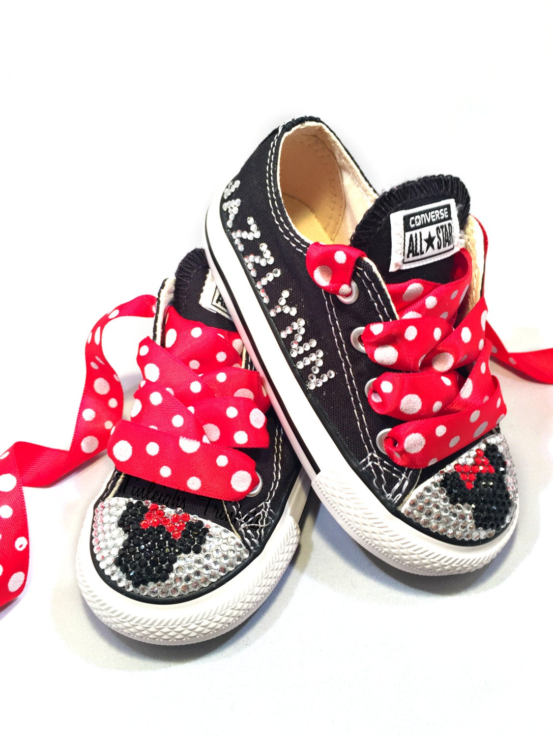Minnie Mouse Toddler Converse Bling Shoes Red Disney Inspired