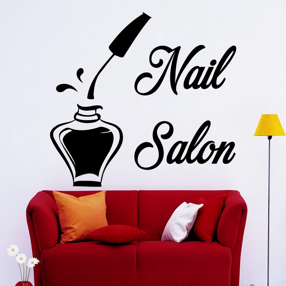 Wall Decals Bottle Of Nail Polish For Beauty Manicure Salon