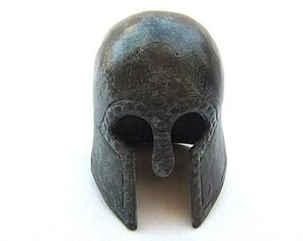 Spartan helmet ,Greek bronze ancient Corithian helmet , Museum copy replica , Greek mythology