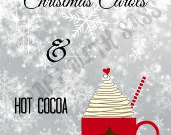 Christmas Carols & Hot Cocoa DIGITAL FILE