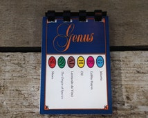 Trivial Pursuit game card notebook / booklet / notepad - up-cycled / recycled / repurposed
