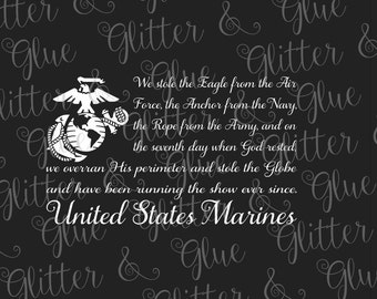 USMC Marine Corps Flag SVG File