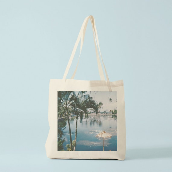 Tote Bag Palms. Photo. Cotton bag, sports bag, yoga bag, baby bag, groceries bag, beach bag, novelty gift, canvas bag.