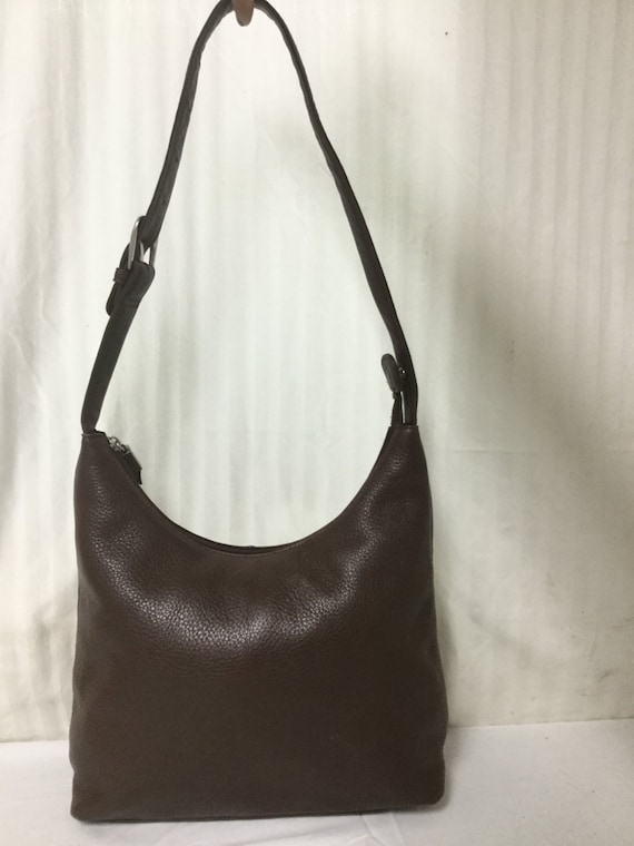 Free Ship Stone Mountain Brown Leather Shoulder Bag Purse