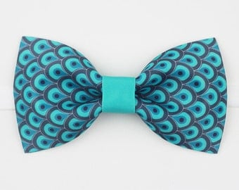 Peacock Feather Bowtie Bow Tie