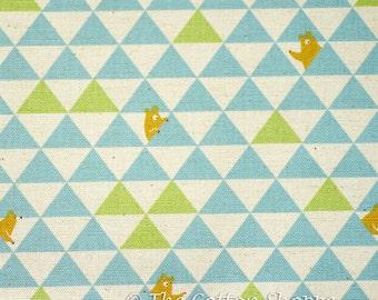 Kokka Bears Fabric ~ Kokka Fabric ~ Blue Bears Fabric ~ Japanese Fabric ~ Canvas Fabric ~ Linen Fabric ~Cotton Fabric ~Home Decor Fabric