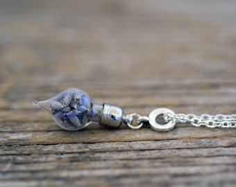 Lavender Necklace, Dried Lavender Necklace, Lavender Jewelry, Lavender, Real Lavender, Dried Lavender, Real Dried Flowers, Real Flowers