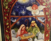 """Christmas Special!  Fabric Panel - """"Nativity Wall Hanging"""""""