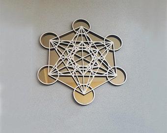 Metatron's Cube golden mirror