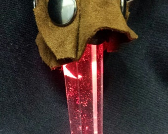Red light up crystal pendant