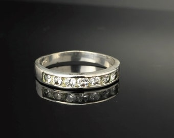 CZ  Sterling Silver Ring Size 9.25 Vintage
