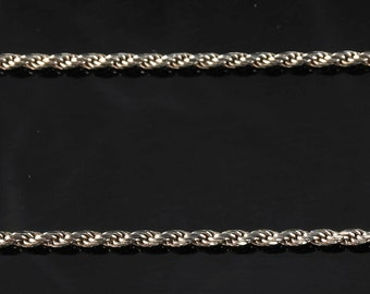 """1.7mm 30"""" Sterling Silver Rope Necklace"""