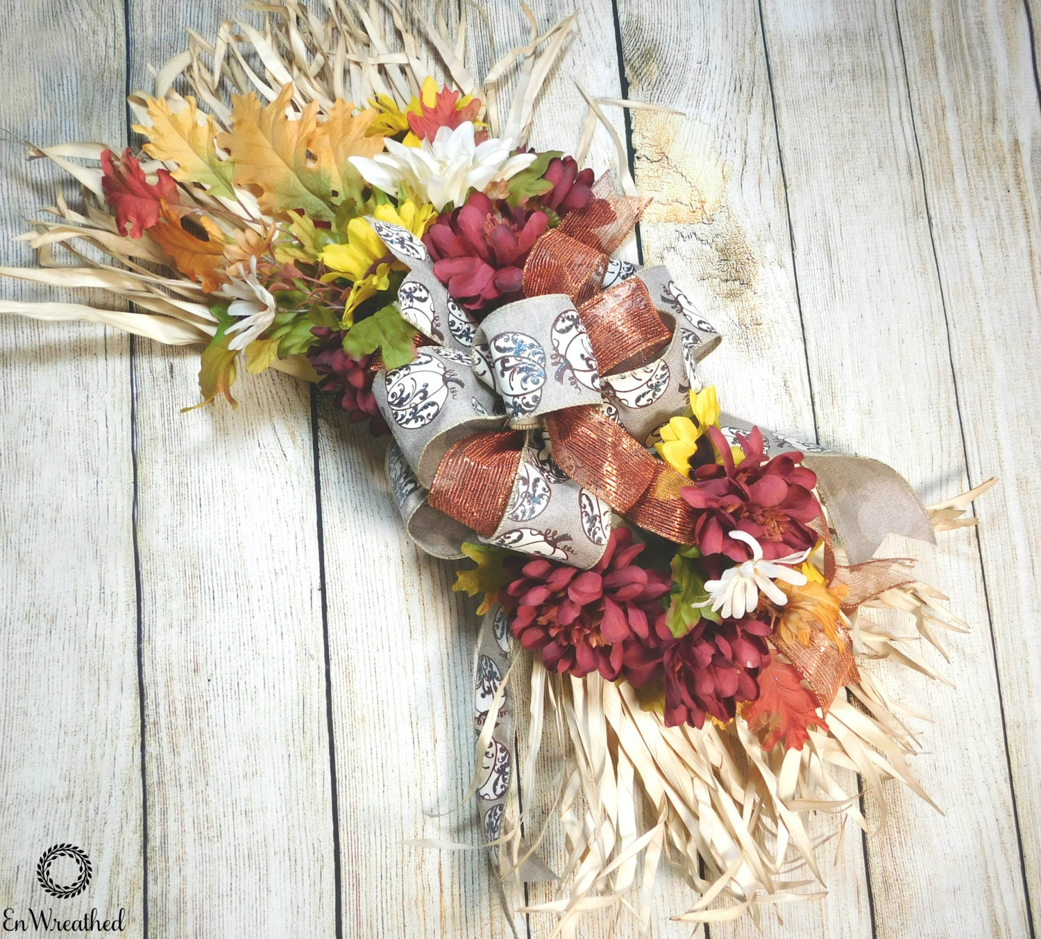 Fall Door Swags: Fall Door Swag Door Swag Rustic Fall Swag Fall Swag Rustic