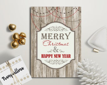 Christmas Card Printable, Holiday Card, Happy new Year Card, Printable Christmas Cards, Merry Christmas Card, Digital File
