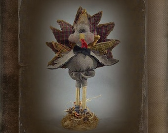 "Pattern: Zeke - 13"" Turkey"