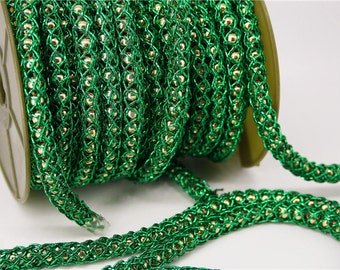 green gold beaded sailor rope string jewelry making ball craft decoration accessory thick gold braided cord knot