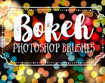 Photo Bokeh Effects Photoshop Brushes Clipart - Bokeh Photography Brushes - Bokeh Art Photography