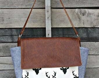 Messenger Bag, Genuine Leather, Laptop Bag, Diaper Bag, Everyday Bag