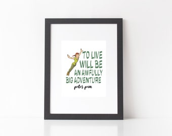 8x10 Printable Wall Art; Peter Pan; INSTANT DOWNLOAD
