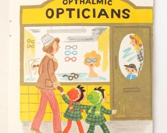 Childrens Book Topsy and Tim Have Their Eyes Tested, Handy Books  published by Blackie and Son, Childrens Opticians Book