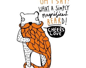Magnificent Beard - A4 Print