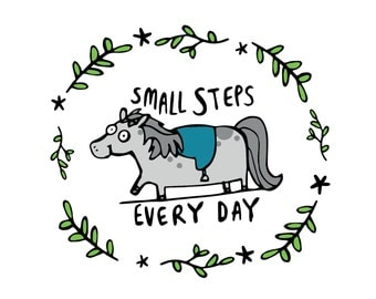 Small Steps Every Day - Motivational - A4 Print