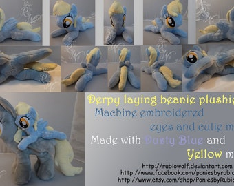 9 inch laying beanie Derpy plush