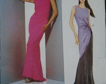 Vintage Vogue Bellville Sassoon 2480 Formal Dress Evening Dress Size 12 14 16