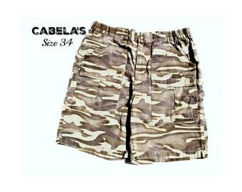 cargo shorts , camouflage shorts,men's jean shorts, denim shorts,  90's shorts, size -34 shorts, # 234