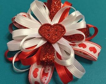Red Loop Ribbon Bow