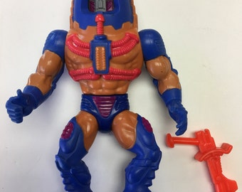 MOTU Man E Faces - Complete 1985 Mattel Tawain Action Figure Toy Toys - Heman - Masters of the universe Collectible