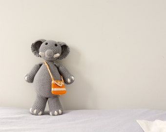 Crochet Toy - Crochet Stuffed Animal - Elephant Toy - Elephant - Organic Baby Toys - Elephant Plush - Amigurumi Elephant - Baby Shower Gift