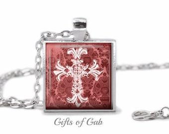 Womens Cross Necklace, Cross Pendant, Christian Necklace, Inspirational Necklace, Religious Necklace, Christian Pendant, Womens Necklace