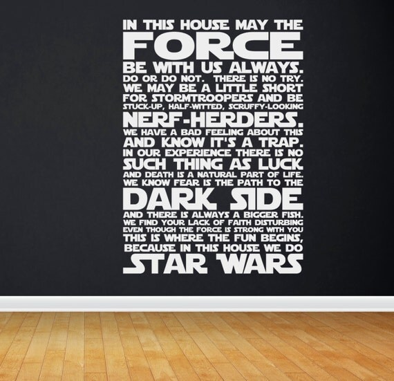 Movie Quotes Star Wars: In This House We Do STAR WARS Star Wars Quotes Star Wars
