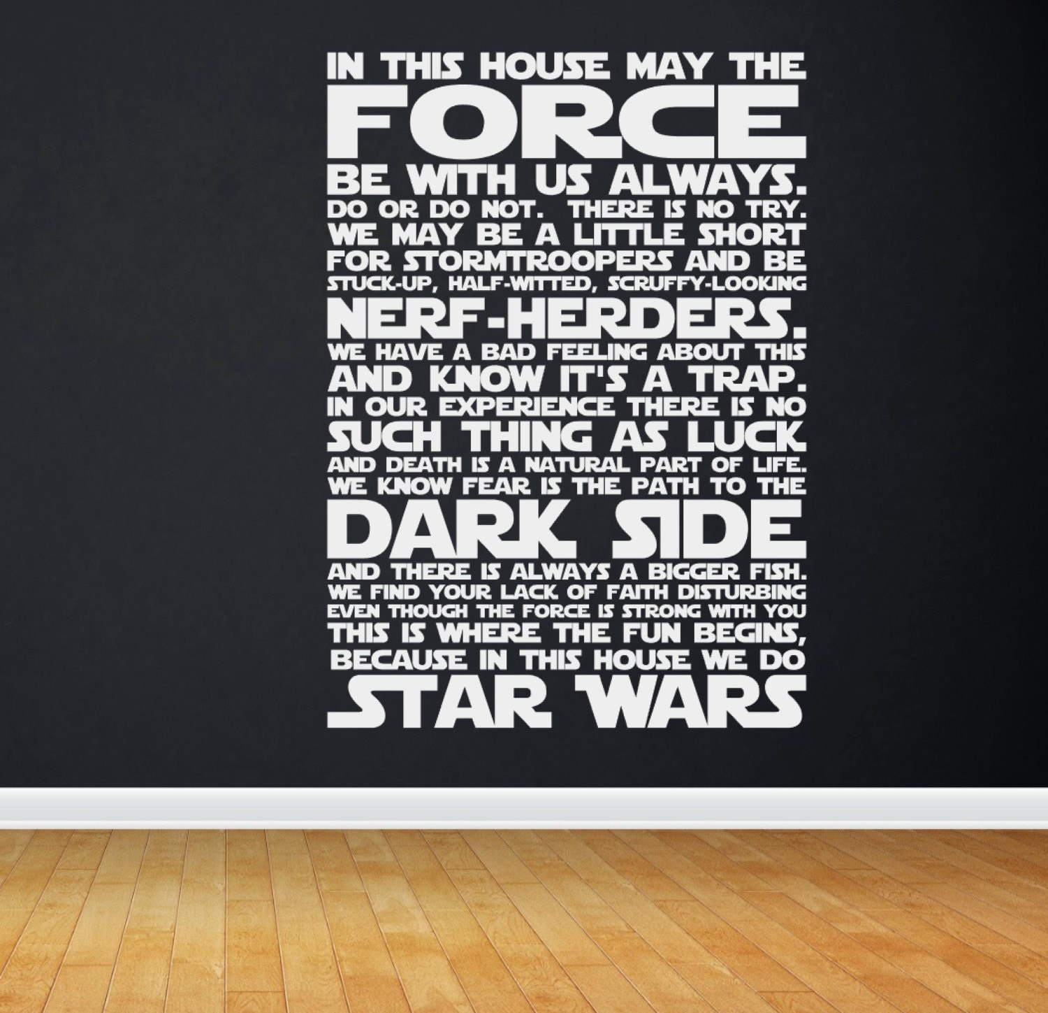 Quote Star Wars: In This House We Do STAR WARS Star Wars Quotes Star Wars