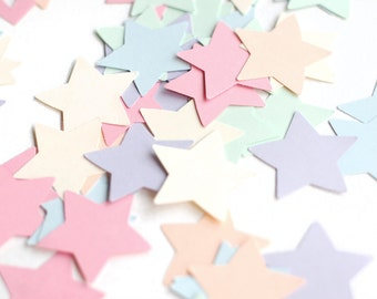 Set of 1000pcs cardstock stars for garland making - wall decor, wedding decor paper stars - wholesale paper star lot - small stars -