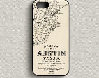 Map of Austin Texas Phone Case iPhone 5 5C 6 6+ 7 7+
